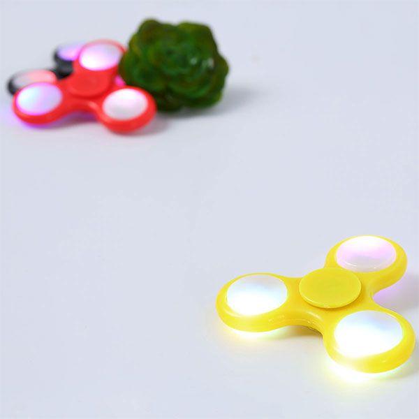 Plastic Tri-Spinning LED Light Fidget Finger Spinner