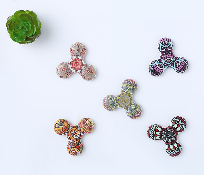 Fiddle Toy Plastic Mandala Patterned Fidget Spinner