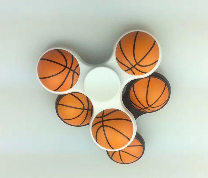 Fiddle Toy Tri-bar Plastic Basketball Fidget Spinner