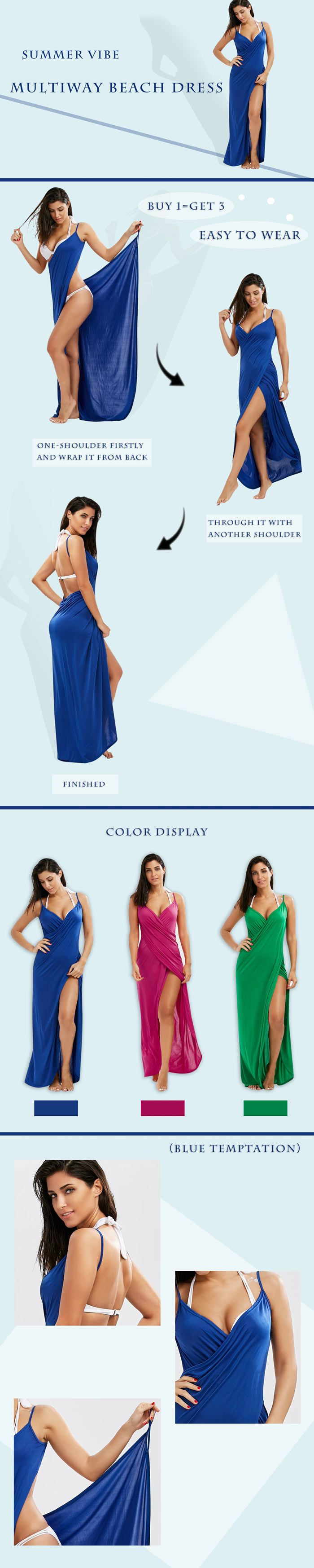 Convertible Maxi Wrap Cover-Up Dress