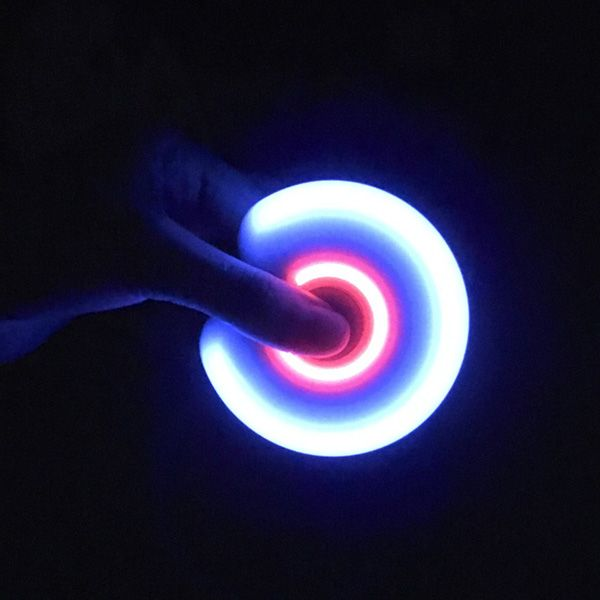 Stress Relief Toy Fidget Spinner with Flashing LED Lights