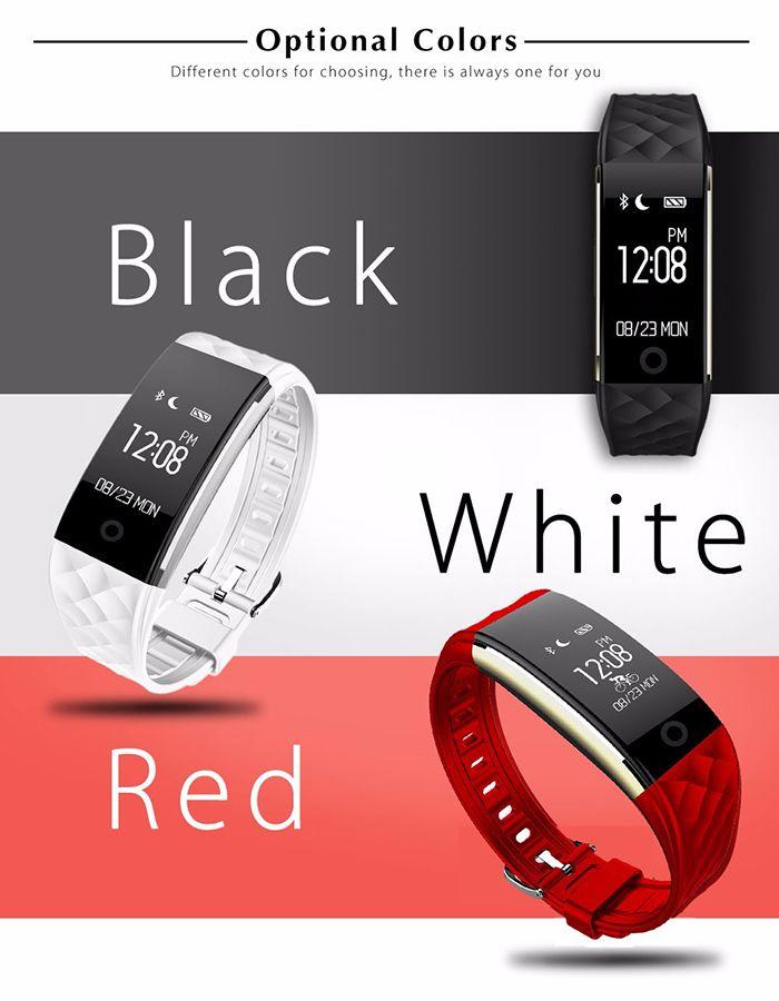 d779b352c S2 Bluetooth Smart Bracelet Watch with GPS Sport Tracker Heart Rate Monitor