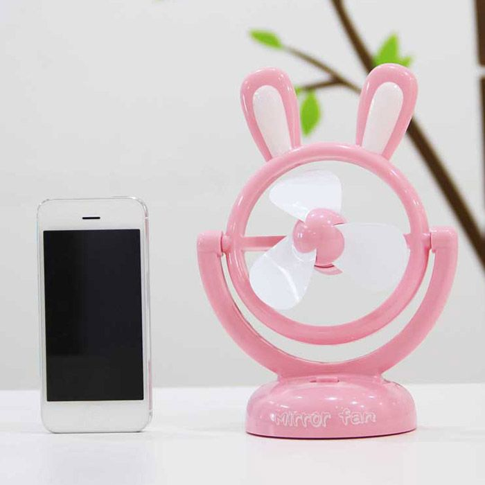 Birthday Gift Portable Mini Table USB Cartoon Rabbit Fan