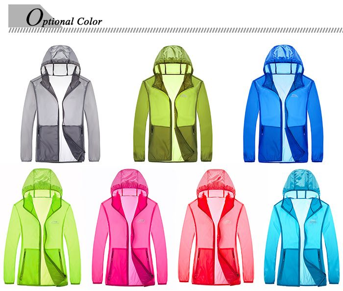 Zip Up Hooded UV-Protection Wear