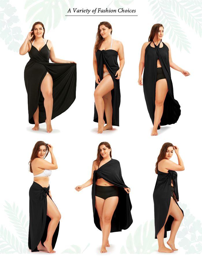 Plus Size Beach Wrap Cover Up Dress