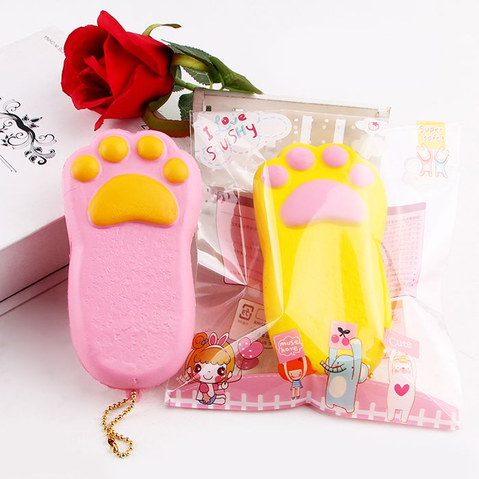 Squishy Cake Toy Target : Yellow Antistress Bear Claw Squishy Toy Simulation Cake RoseGal.com