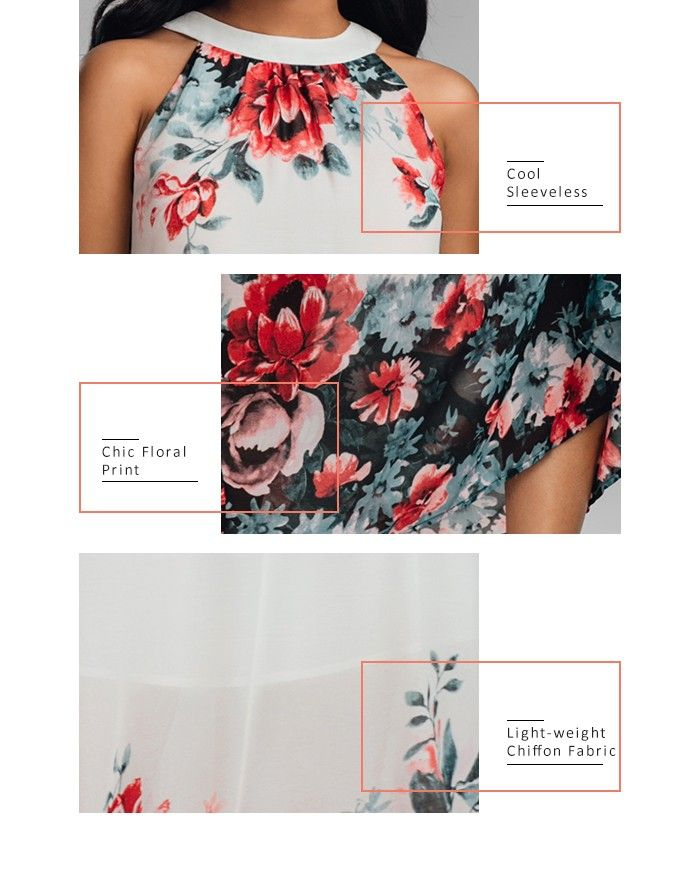 Sleeveless Maxi Chiffon Floral Dress