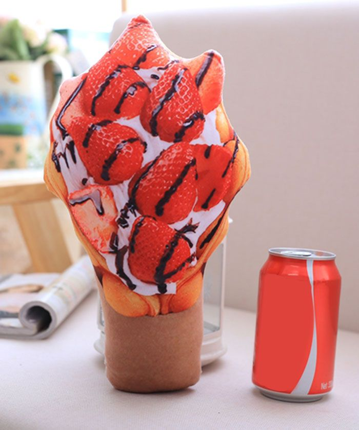 Simulation Food Ice Cream Throw Pillow Squishy Toy