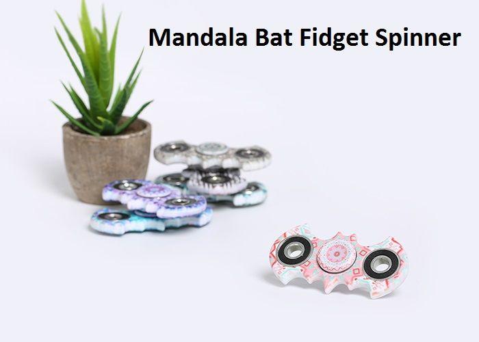 Fiddle Toy Plastic Mandala Patterned Bat Fidget Spinner