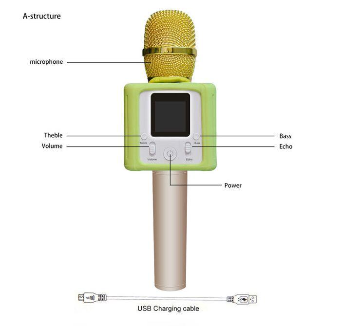 39 rose 39 microphone karaok k3 cran tactile avec haut. Black Bedroom Furniture Sets. Home Design Ideas