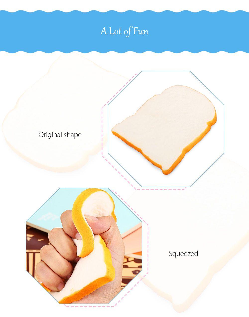 Limeade 1pcs Squishy Toy Home Decor Pu Simulation Toast