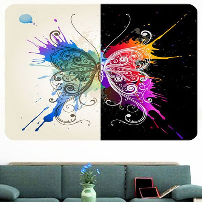 how much postage for a letter 2018 multifunction butterfly splatter print stick on wall 22212