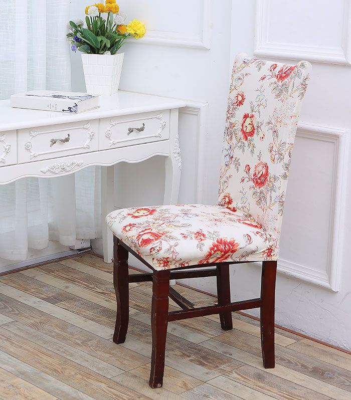 color housse de chaise lastique motif floral amovible. Black Bedroom Furniture Sets. Home Design Ideas