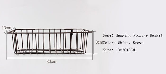 Portable Household Metal Wire Hanging Storage Basket  sc 1 st  RoseGal & White Household Portable Metal Wire Hanging Storage Basket | RoseGal.com