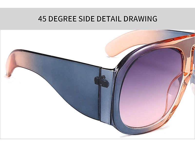 393b68cb20 2019 Anti Fatigue Oversized Thick Frame Sunglasses