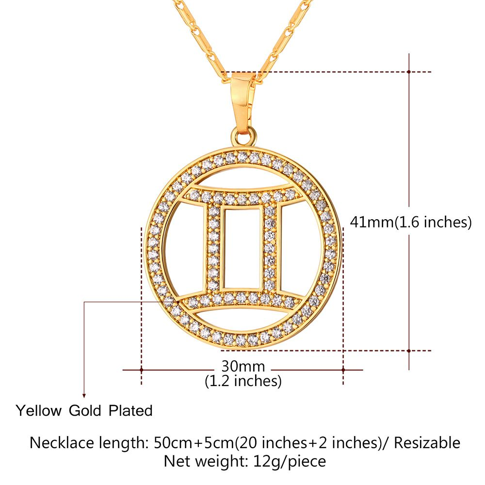 Silver rhinestoned round gemini pendant necklace rosegal rhinestone round gemini pendant necklace aloadofball Image collections