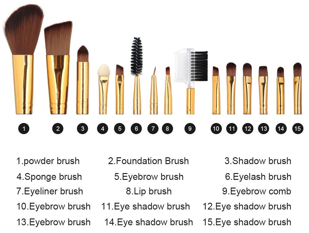 Professional Ultra Soft Foundation Contour Eyeshadow Eyebrow Lip Brush Set