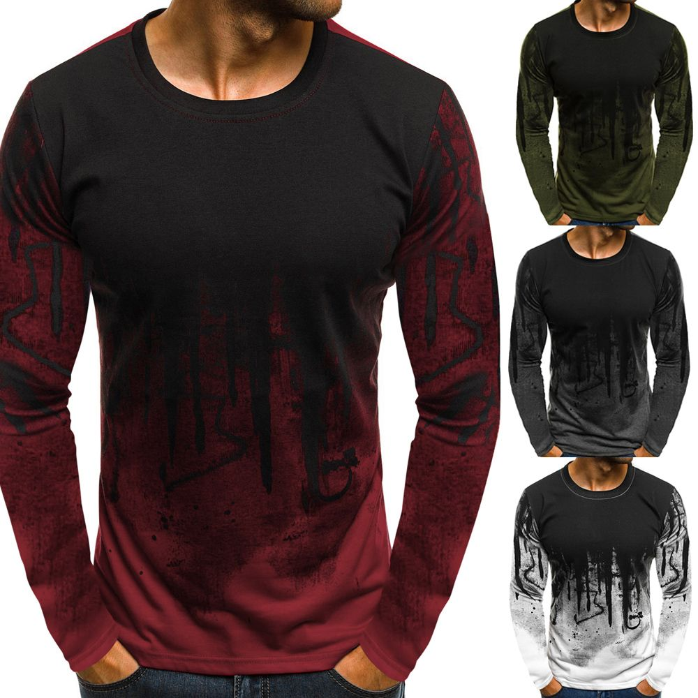 a4bc58be3b4 34% OFF   2019 Ink Painting Print Long Sleeve Casual T-shirt ...