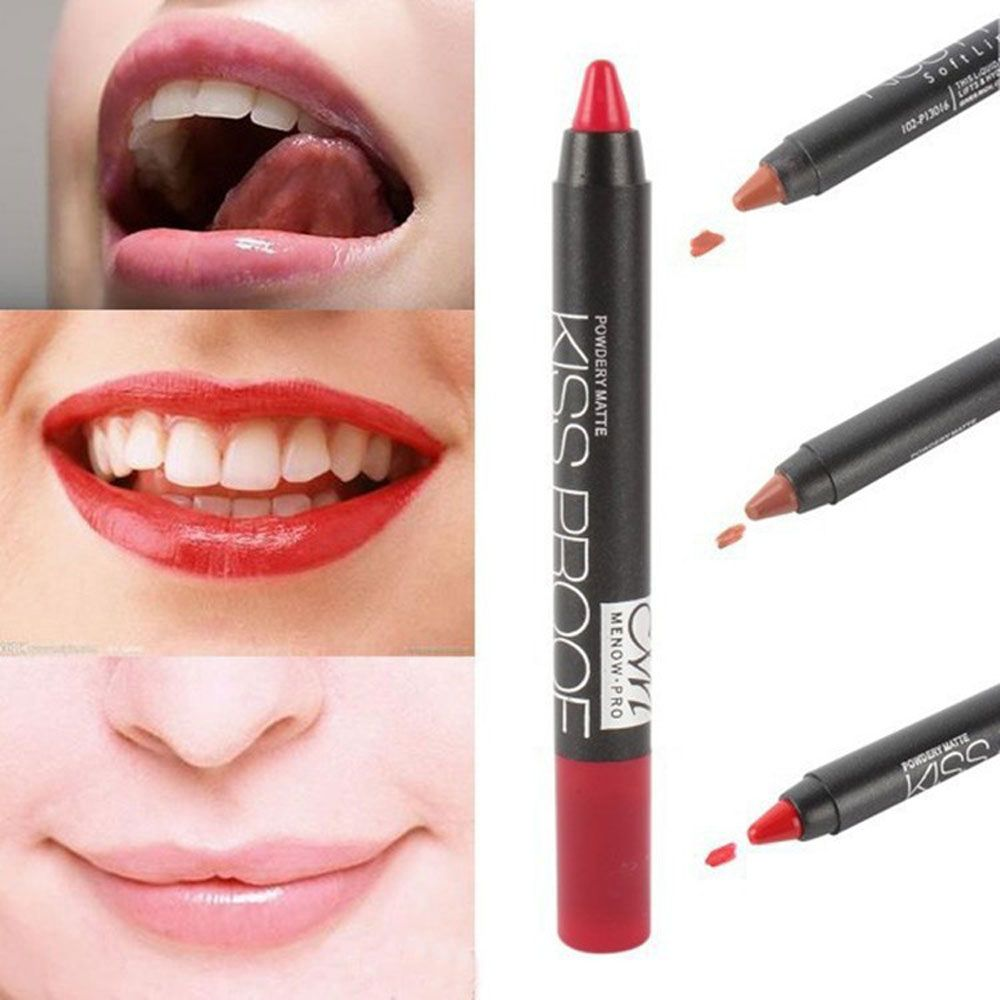 Waterproof Lip Pencil Cosmetic Matte Makeup Long Lasting Lipstick