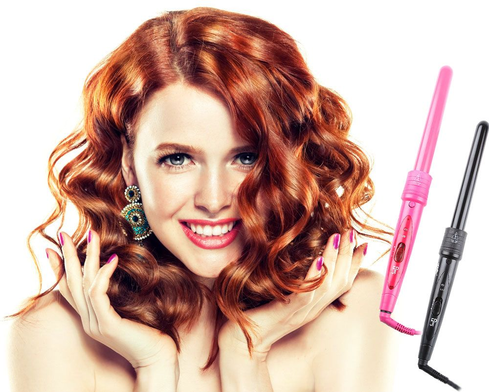 Pro Salon 5-in-1 Interchangeable Hair Curling Iron Multi-size Roller Heat Resistant Glove Set