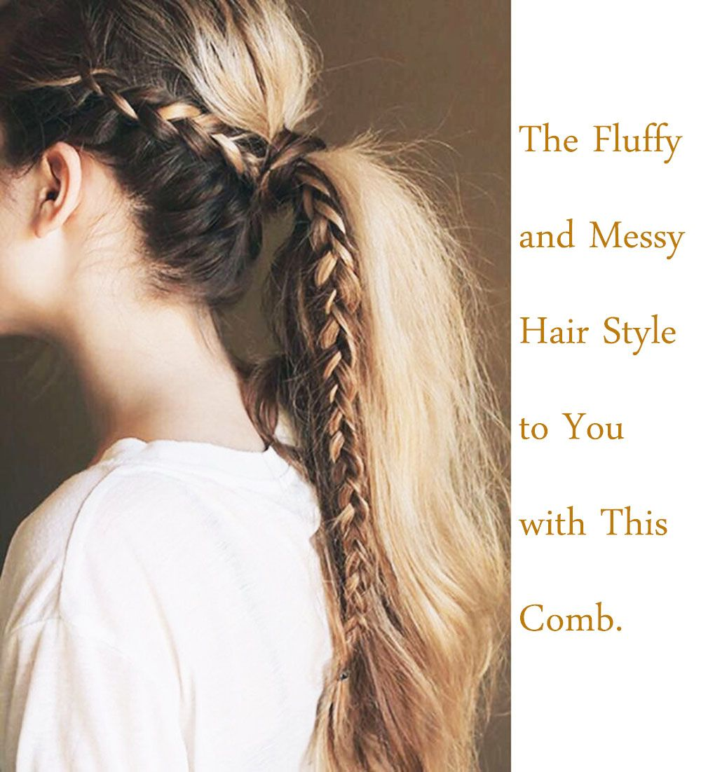 Salon Hairdressing Teasing Back Messy Effect Comb Slim Line Styling Brush