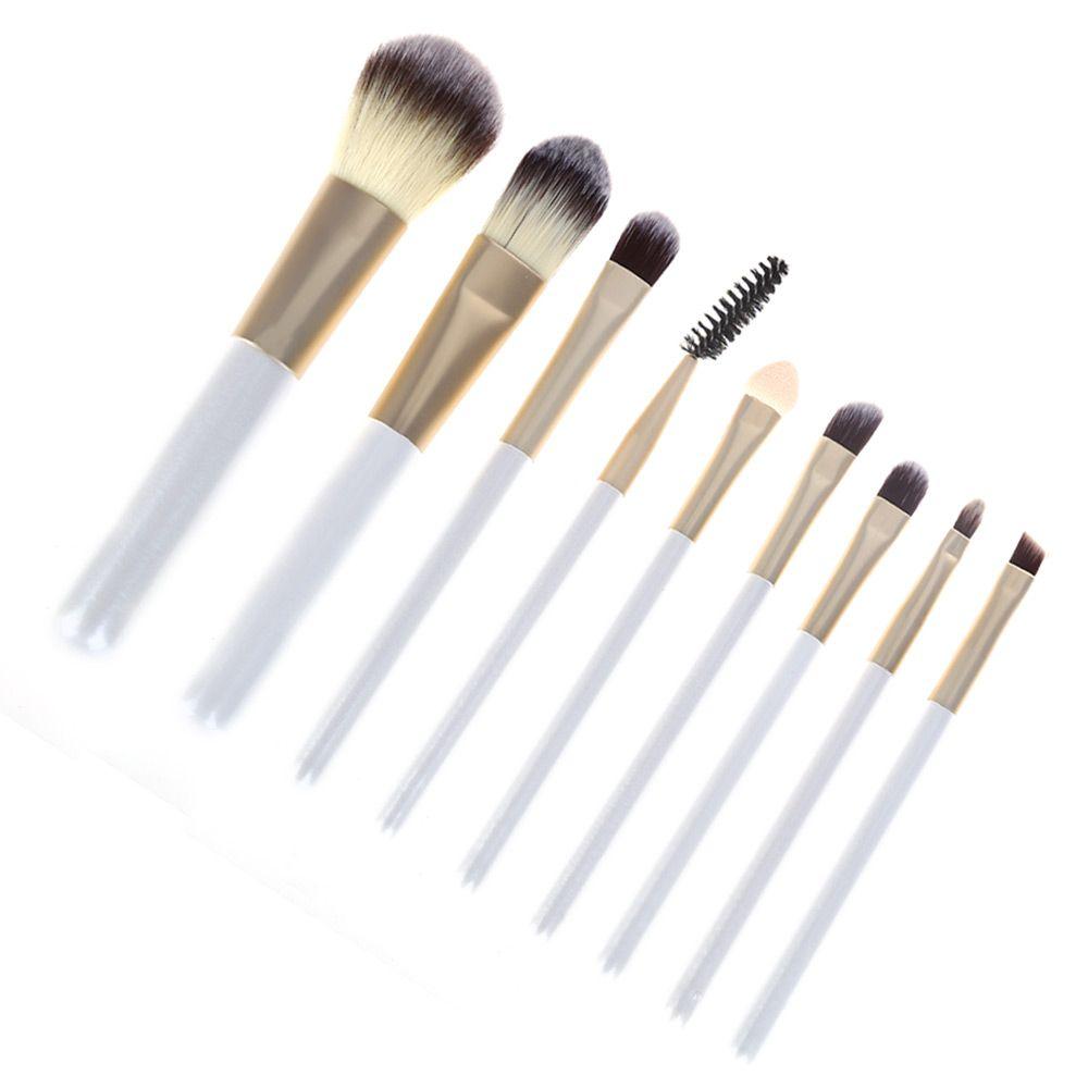 Tin Polyamide Cosmetic Foundation Makeup Brush Set
