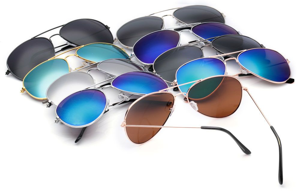 Cool Summer Metal Teardrop Color Mirrors Frog Film Unisex Sunglass