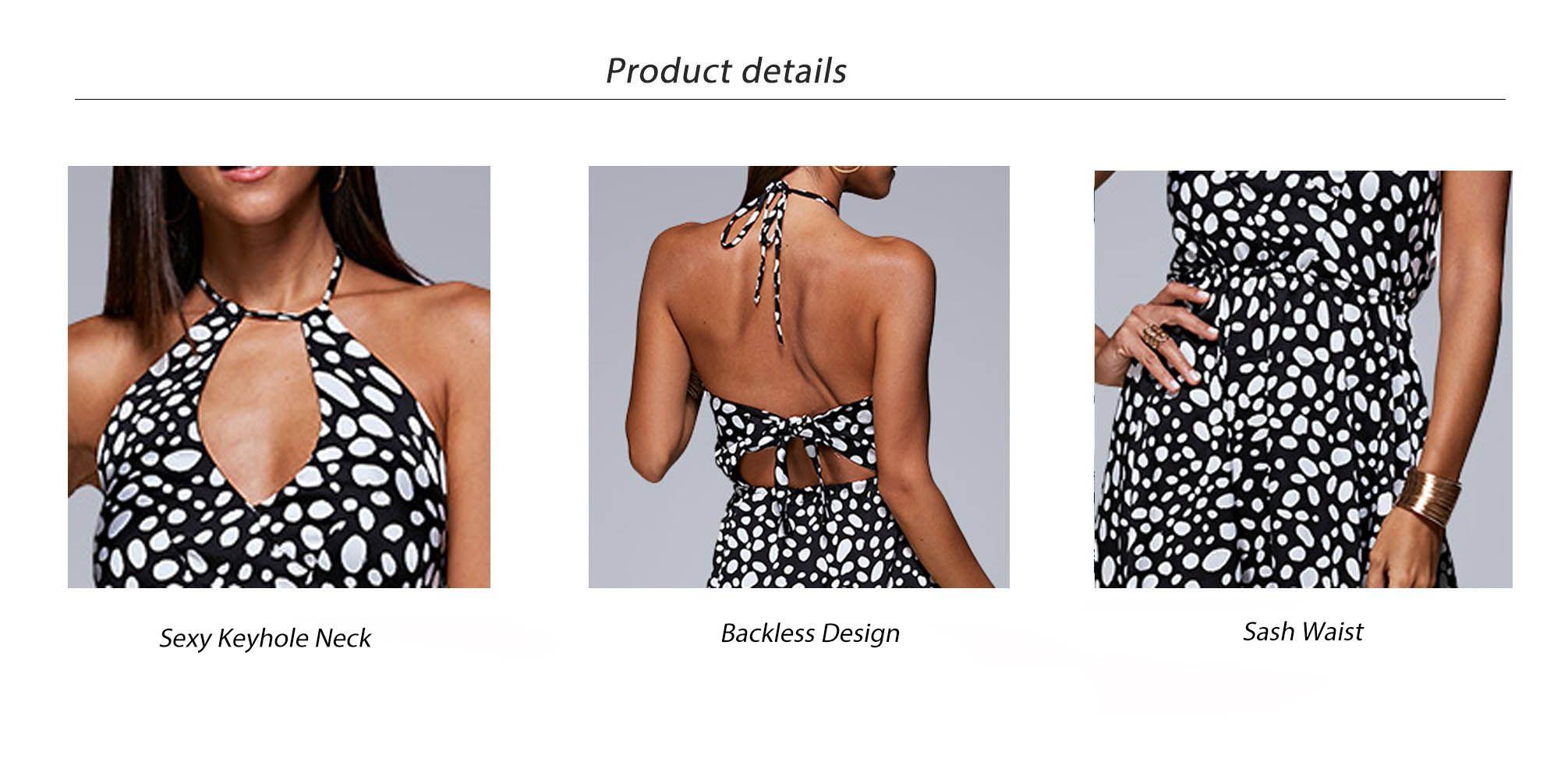 Sexy Keyhole Neck Sash Waist Allover Print Women Midi Dress