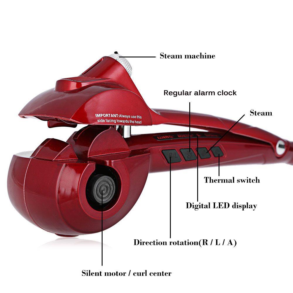 Titanium Auto Steam Hair Curler Ceramic Wave Water Care Styling Tools