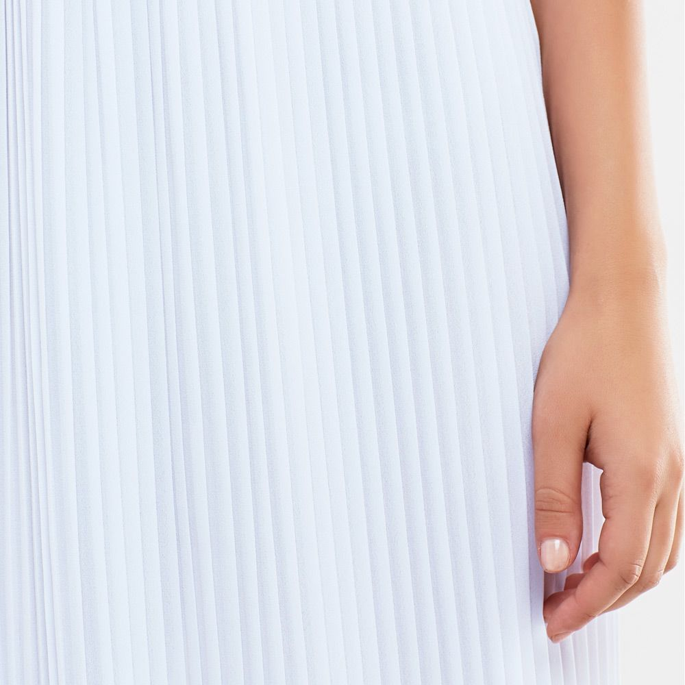 Pleated Two Piece Maxi Dress Set