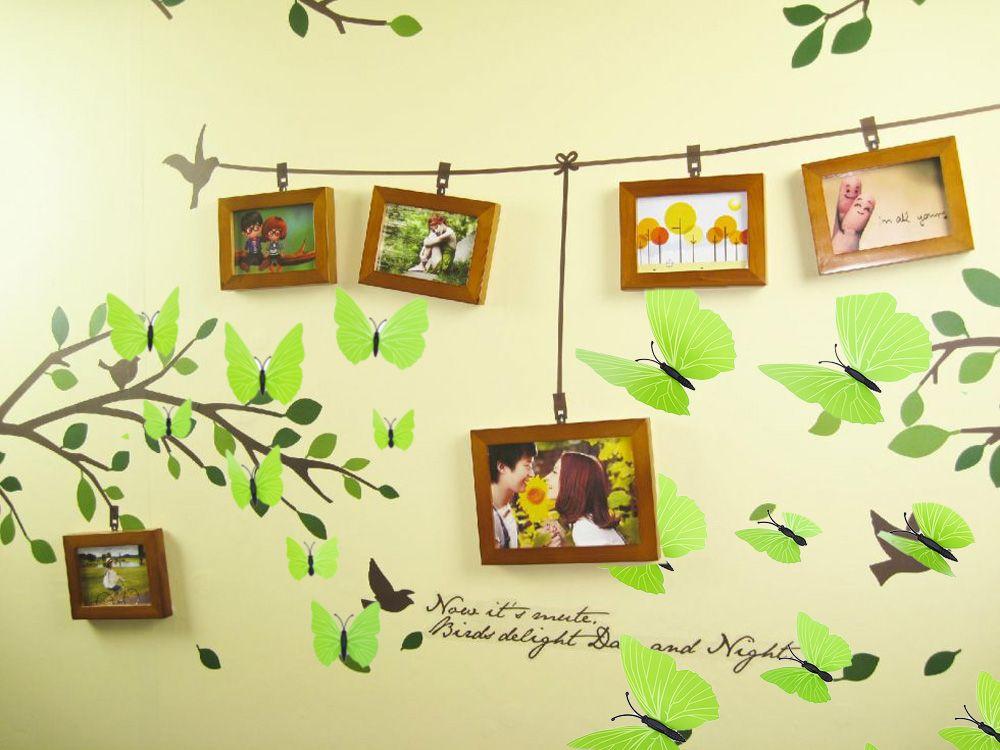 Purple 12pcs Pvc 3d Butterfly Wall Decor Cute Butterflies Wall ...