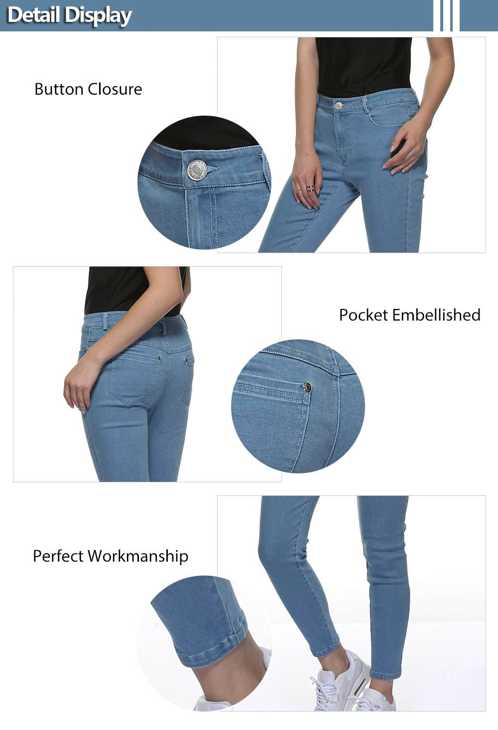 Mid Waisted Skinny Jeans