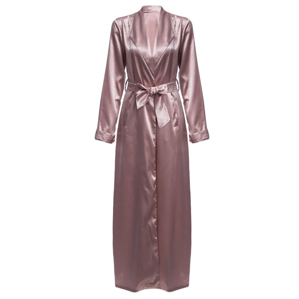 Longline Satin Duster Coat