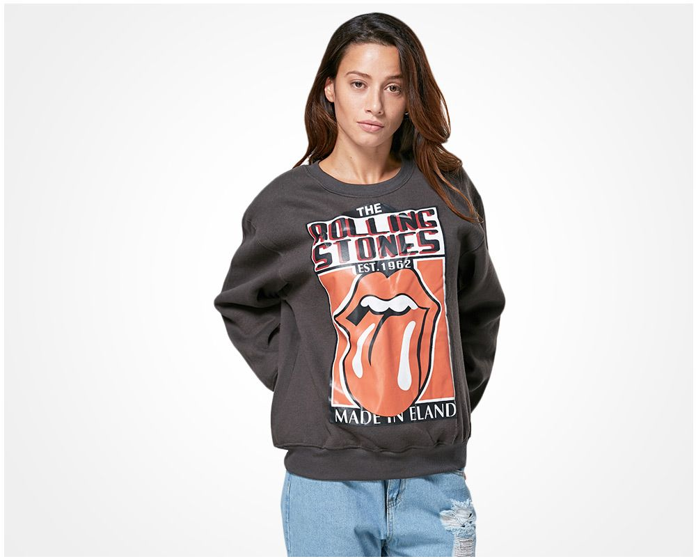 Casual Round Collar Printed Women Sweatshirt