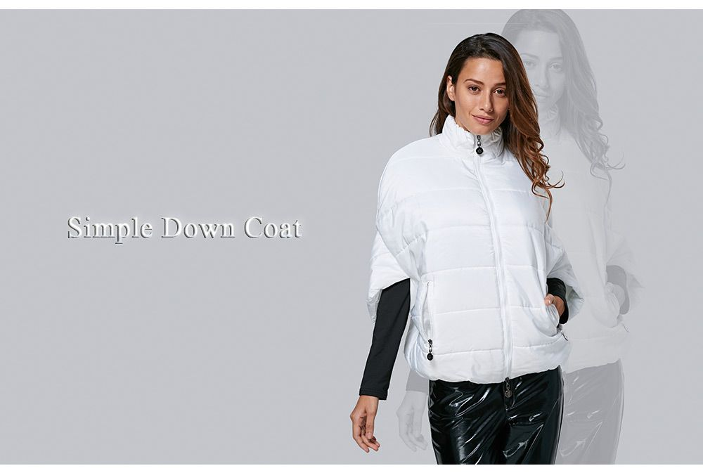 Novelty Turtleneck Side Pocket Women Down Coat