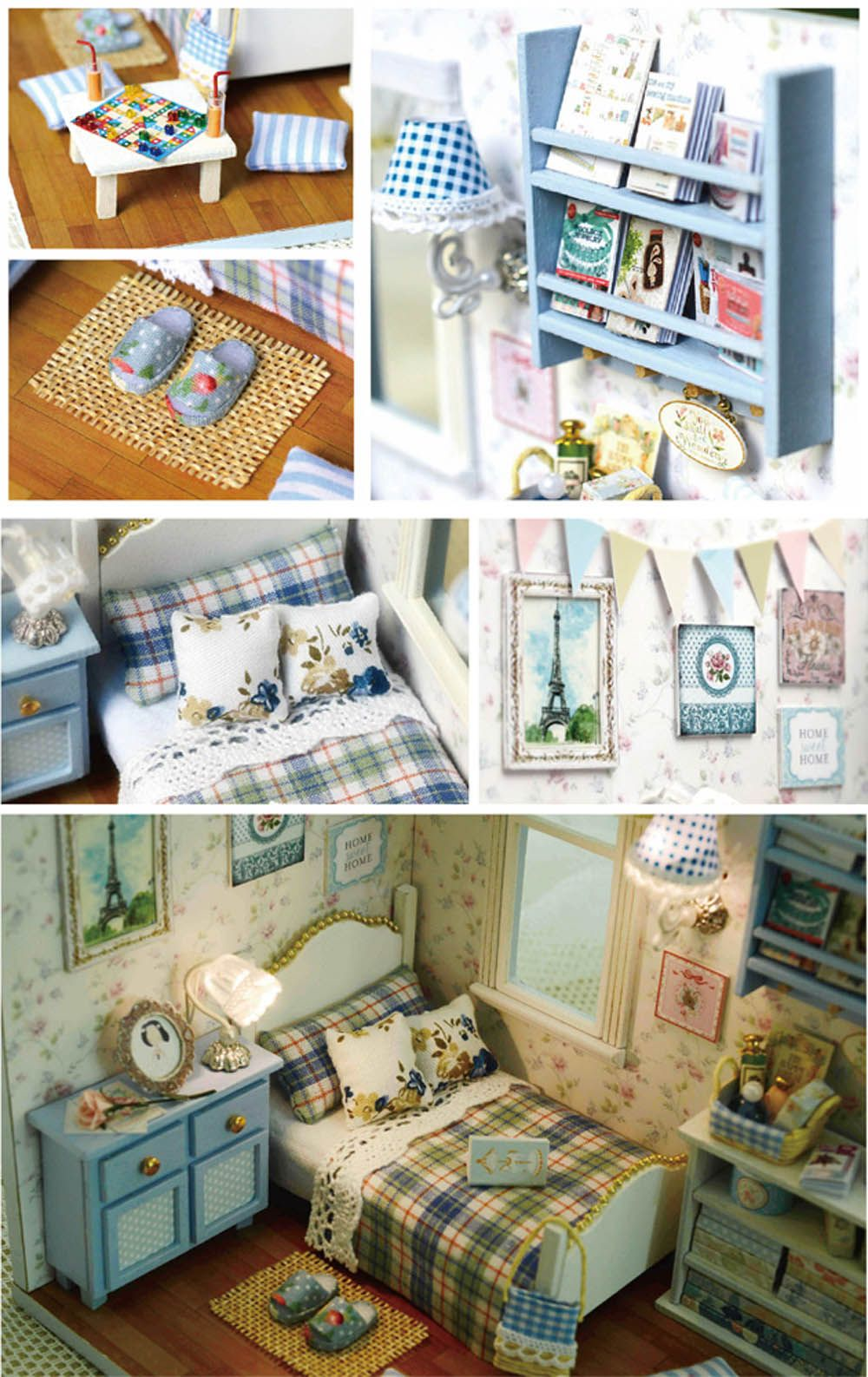 CUTEROOM H - 003 DIY Wooden House Furniture Handcraft Miniature Box Kit