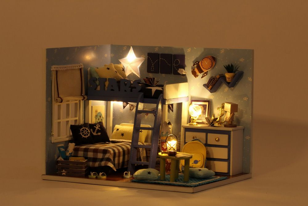 CUTEROOM H - 005 DIY Wooden House Furniture Handcraft Miniature Box Kit - Star Tale