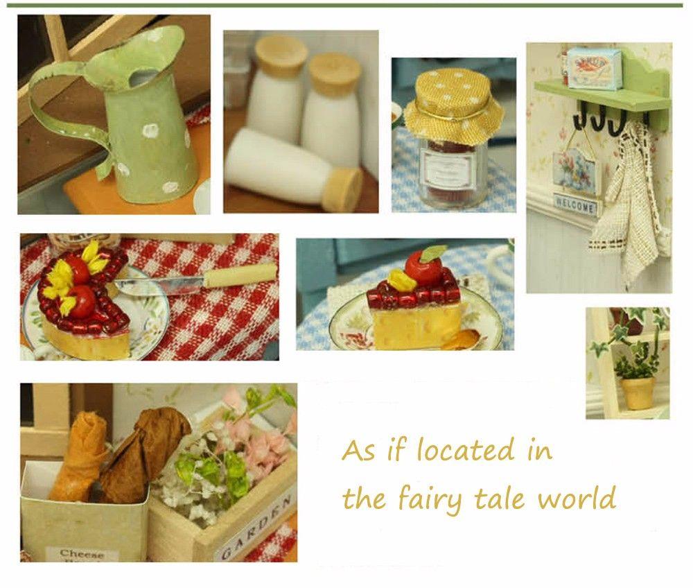 CUTEROOM F - 002 DIY Wooden Doll House Furniture Handcraft Miniature Box Kit - Pastoral Life
