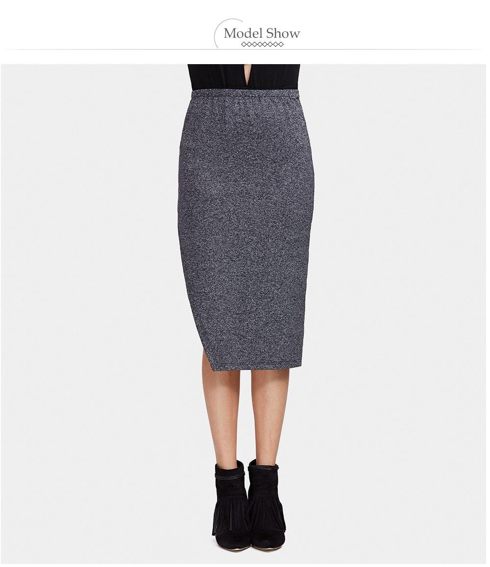Chic High Waist Pure Color Slit Women Skirt