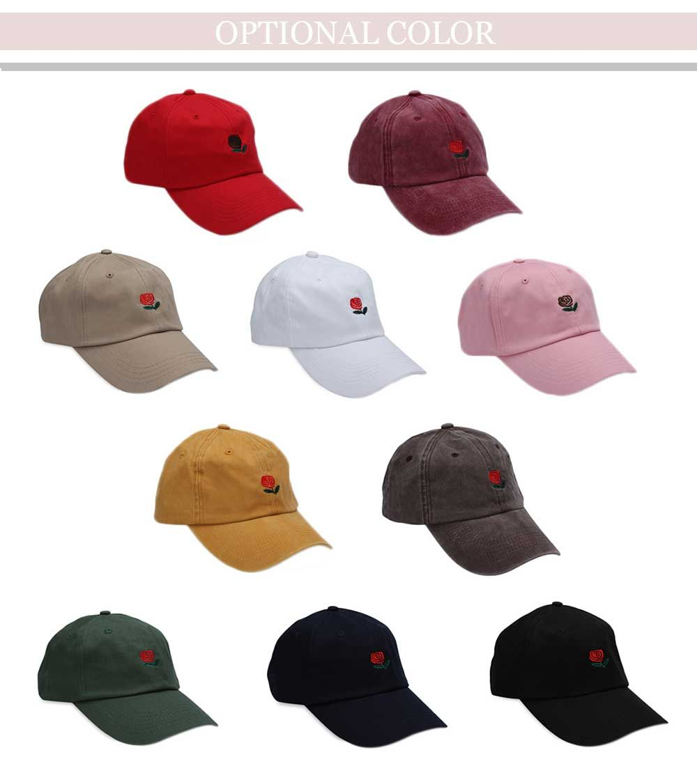 Casual Pattern Print Solid Color Baseball Cap for Men