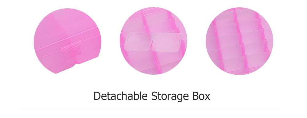 Detachable 36 Compartments Multifunctional Plastic Storage Box