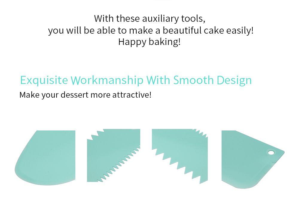 3 in 1 DIY Cake Fondant Smoother Scraper Baking Tools Dessert Molds