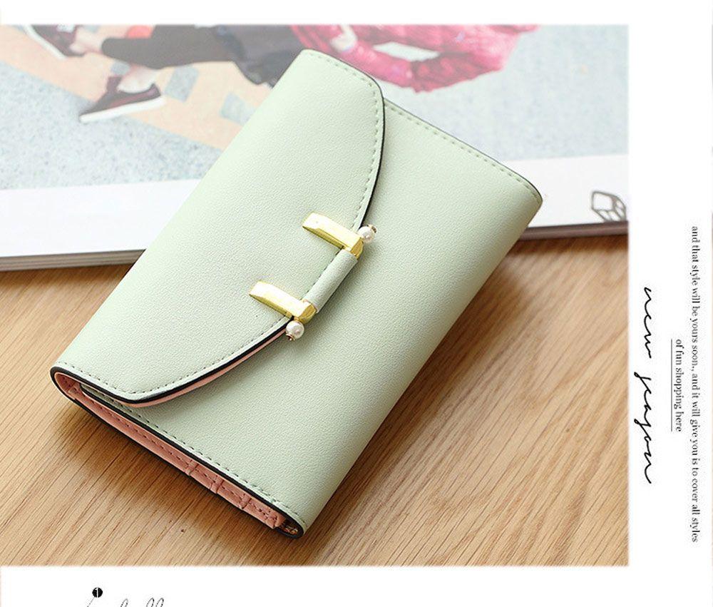 Lady Simple Geometric Mini Short Clutch Wallet Card Holder Coin Purse