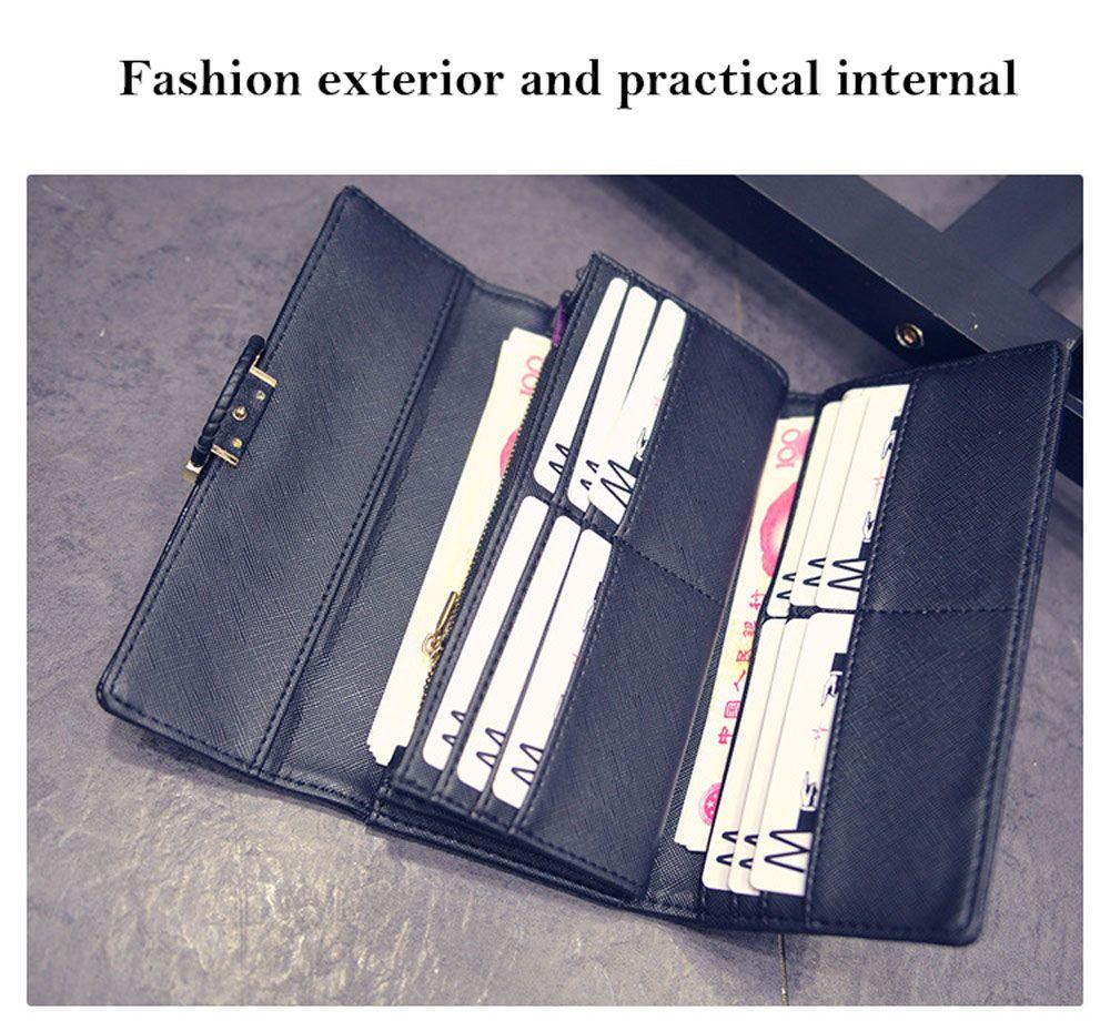 Crocodile Pattern Models Multi-card Leather Folder Women Wallet
