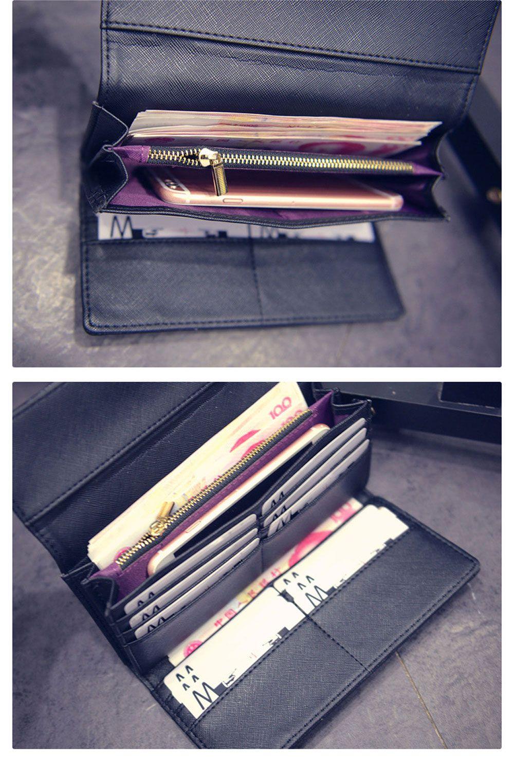 Crocodile Pattern Multi-card Leather Folder Vintage Women Wallet
