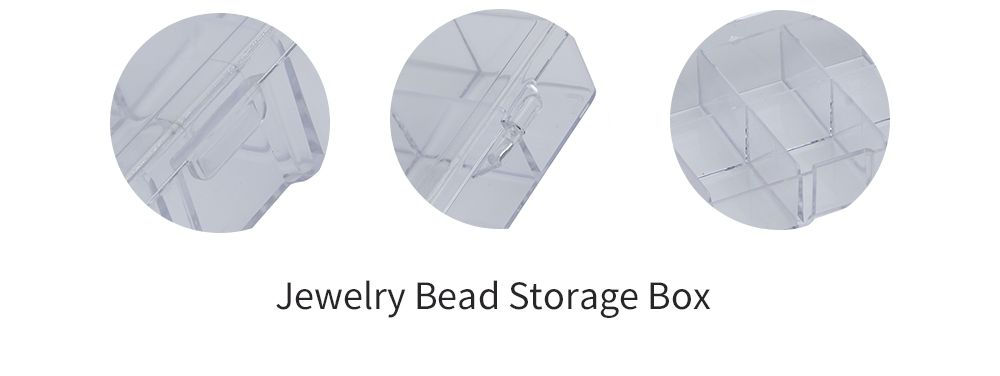 10 Compartments Plastic Transparent Jewelry Bead Storage Box