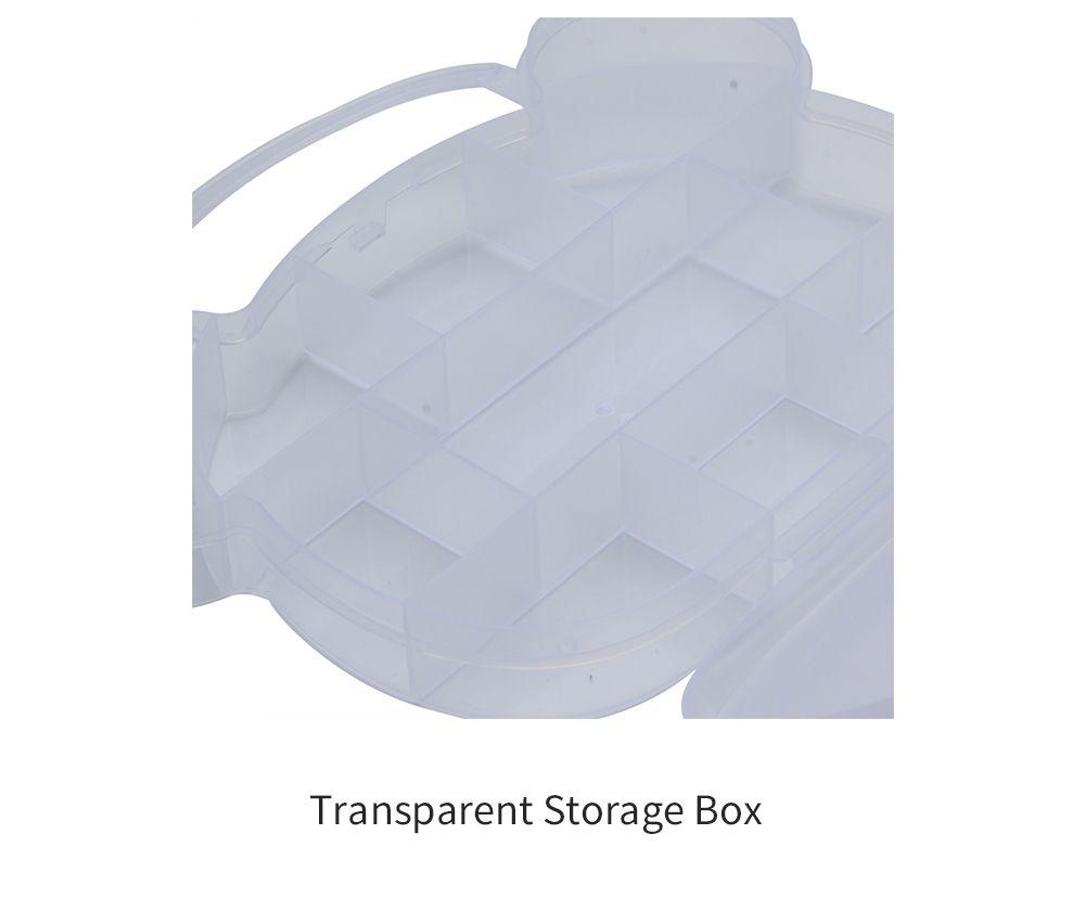 Lattice Bear Shape Plastic Transparent Jewelry Bead Storage Box