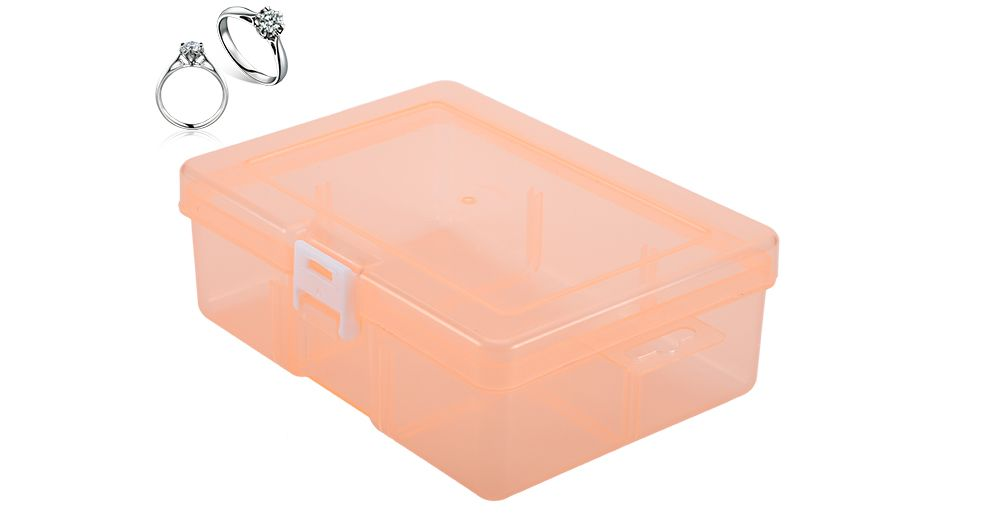 Transparent Plastic Jewelry Bead Cosmetics Storage Box