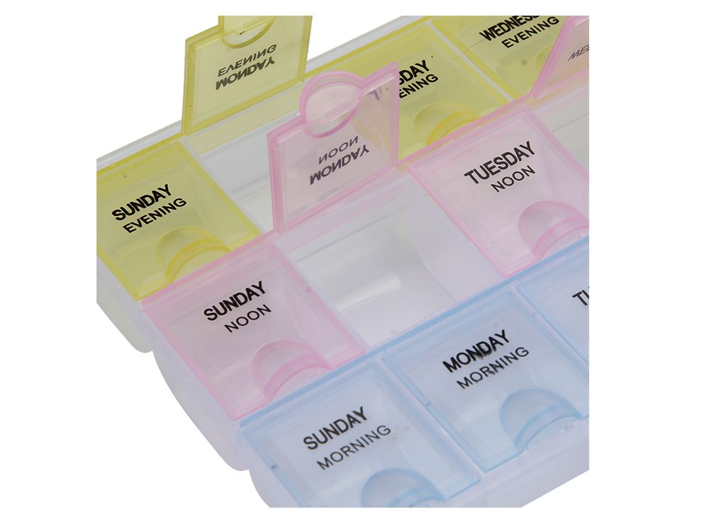 21 Compartments Weekly Medicine Reminder Pill Tablet Storage Box