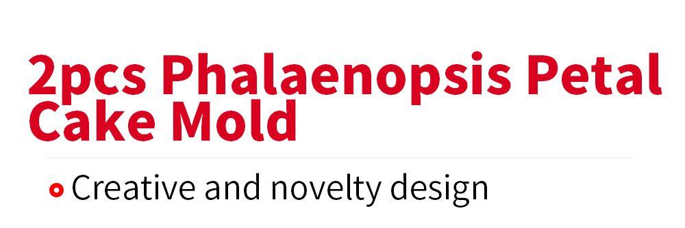 Silicone 2pcs Phalaenopsis Petal Clamping Fondant Cake Mold